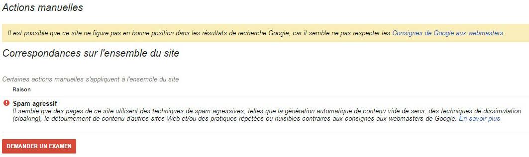 les pénalités et filtres Google
